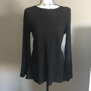 Cable & Gauge ribbed long sleeve tunic top